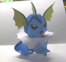 Paper vaporeon by Fangthewhitewolf4