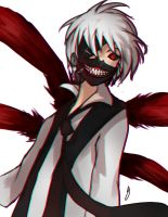 Kaneki fan art by Hamzilla15