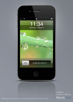 iPhone 4 Psd +2 png's by Monty by montydesi