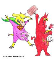 Cow and Chicken - Super Cow by Rocket-Stevo