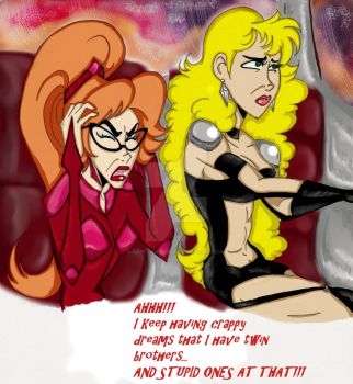 Daria Cherie Venture and Brittany Sampson Sketch by CaptainKurima