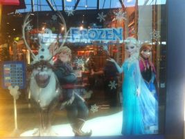 Frozen Disney Store Window poster by TangledxEpicFan