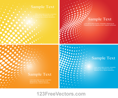 Halftone Dot Colorful Background Vector Illustrato by 123freevectors