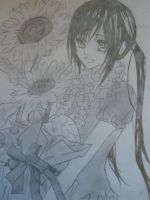 Yuuki with a flowers by YuukiRee