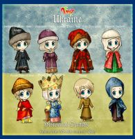 Hetalia 100 Guises: Historical Outfits part 2 by AtreJane