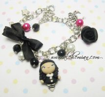 wednesday addams bracelet by AlchemianShop