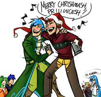 Christmas Knights by omgdragonfly