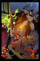 Spawn vs Batman by AlonsoEspinoza
