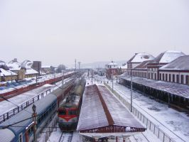 Winter in Simeria station by Sadguardian