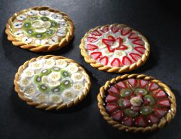 Miniature Fruit Tarts by ChocolateDecadence