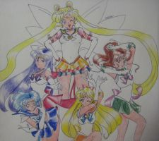 Another Inner Senshi Group by Marellus