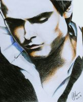 look down (Zac Efron) by rommeldrawlines-12
