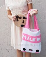 Cookie and Milk Tote by CubicPanda