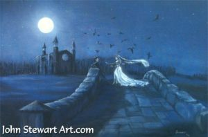 Tim Burton's Corpse Bride painting for sale by johnstewartart