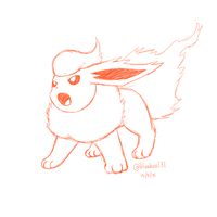 Flareon Sketch by Bluekiss131