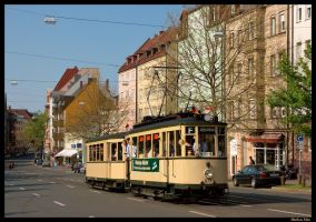 Historic tram in Nuernberg by TramwayPhotography