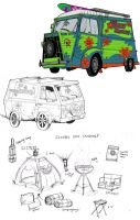 Scooby Doo:The Mystery Machine by BleedingHeartworks
