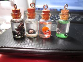 Ghibli Bottle Charms by MilkCannon
