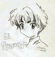 Blushing Syaoran by pawnqueen
