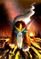 The Shiny entei by Titanium-Zen