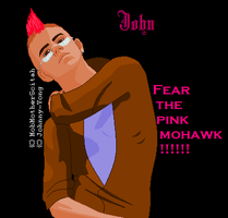 John - Beware the Pink Mohawk by SquirtBox