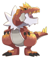 Tyrantrum COLOR by pr-grunge