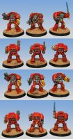 Blood Angels Terminators Squad by razzminis