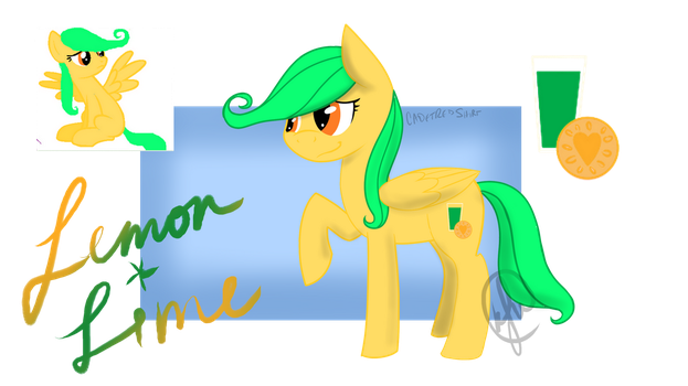 Lemon Lime Pony for Fawfu by CadetRedShirt