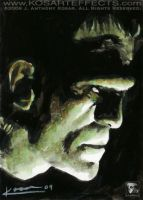 Frankenstein 1 - Sketch Card by KOSARTeffects