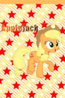Applejack iPhone 4 Wallpaper by AceofPonies