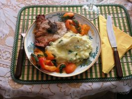 Chop And Apricots - easy and tasty by delaverano