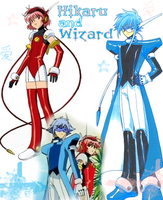 hikaru and wizard by rializethis
