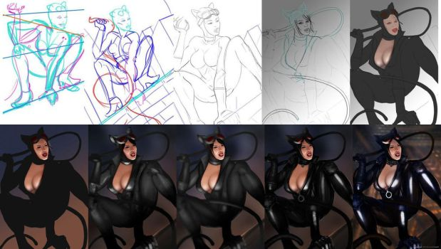 Catwoman Process (Kevin Mcdowell) by KevinMcDowell