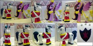 Princess Cadence and Shining Armor customs by davisaroflmao