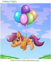 Scootaloo: training to flight... by Extra-Fenix