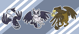 Rainbow Falls Griffon Team by Glasswhistle