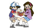 Dipper and Mabel by TheyCallMeRoxas