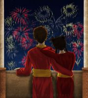 Mai and Zuko - New Year by ggns