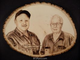 Father and Son - Woodburning by brandojones