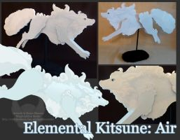 Elemental Kitsune: Air by StrayaObscura
