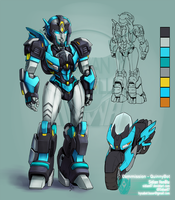Commission QuinnyBot - Mtmte Axtris by Sidian-VenBlu
