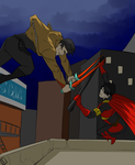 Red Hood vs Red Robin by CassperClearie