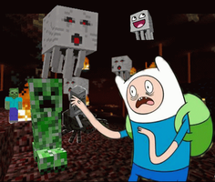 Minecraft's a scary place by deathdreamer102