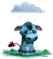 Day 574. Pooh Crossing - Eeyore by Cryptid-Creations