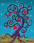 Spiral Heart Tree Abstract by MelianOfMist