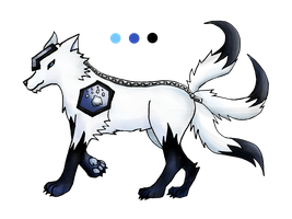 custom wolf knight for Inner-Realm-Adopts by artloverkittenpaws
