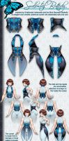 Swallowtail Butterfly Corset Design by Guardian-Beast