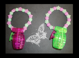Grenade Themed Kandi by Kandifiedkitten
