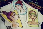 3 little sketches by just-caro