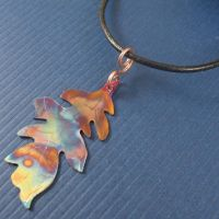Autumn Leaf in Fire Copper by camias